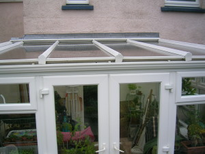 Freshly cleaned conservatory roof and windows