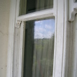 Dirty sash windows before a deep clean