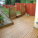 Domestic decking pressure washing