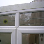Conservatory windows in need of cleaning