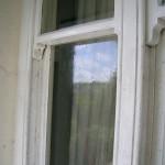 Dirty sash windows before a deep clean