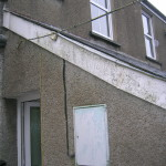A grimy fascia board in need of cleaning
